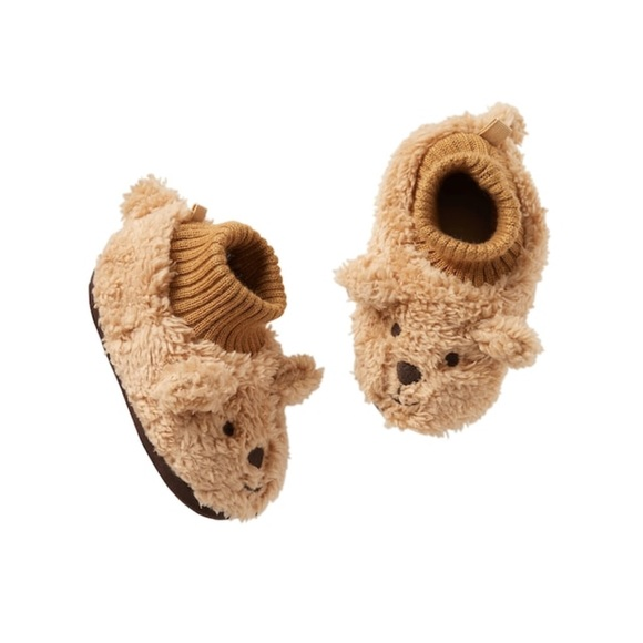 sleek online for sale best value GAP Shoes | New Baby Cozy Brown Bear Slippers With Grip | Poshmark